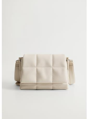MANGO - Alessio Quilted Cross Body Bag NATURAL-WHITE