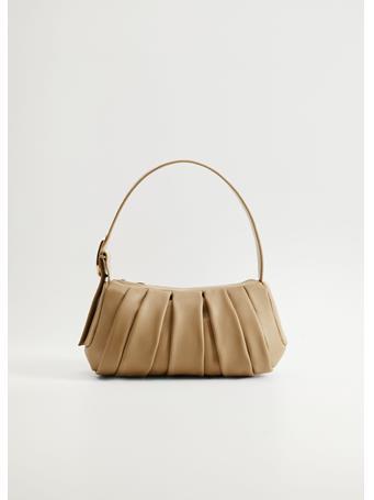 MANGO - Nastri Baguette Bag LIGHT BEIGE