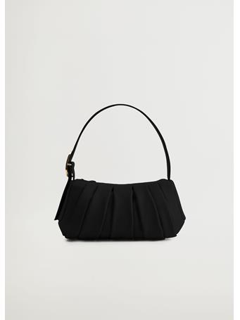 MANGO - Nastri Baguette Bag BLACK