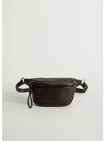 MANGO - Alessio Quilted Belt Bag BLACK