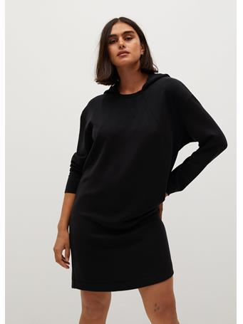 Violeta by MANGO - Felpi7 Hoodie Dress BLACK