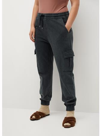 MANGO - Cotton Cargo Trousers LIGHT-GREY