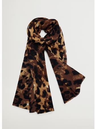 MANGO - Leopard Print Scarf LIGHT-BEIGE