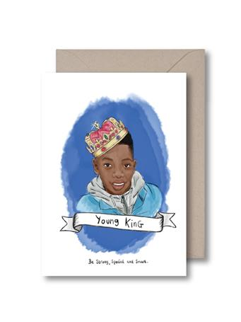 KITSCH NOIR - Young King Birthday Card NO-COLOR