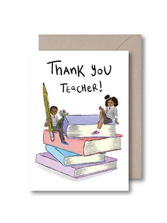 KITSCH NOIR - Thank You Teacher Card {#color}