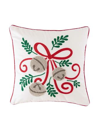 C&F - Jingle Bow Pillow WHITE
