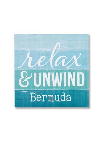 Relax & Unwind Bermuda Wooden Word Block {#color}