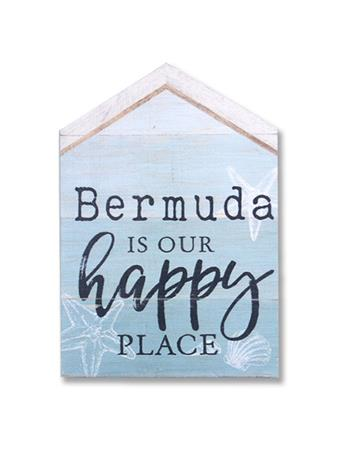 Bermuda Is Our Happy Place Wooden Word Block {#color}