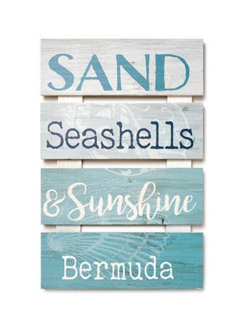Bermuda Sand, Seashells & Sunshine Sign {#color}
