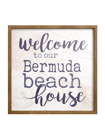 Welcome To Our Bermuda Beach House Sign No-Color