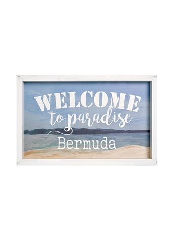 Welcome To Bermuda Framed Wooden Art No-Color