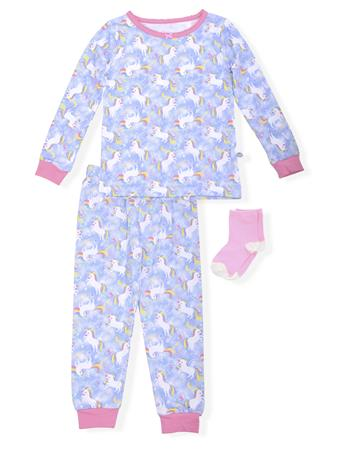 SLEEP ON IT - Fitted Unicorn Print Pajamas With Socks (12M-24M) NOVELTY