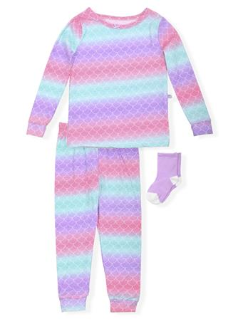 SLEEP ON IT - Ombre Print Fitted Pajamas With Socks (2T-4T) NOVELTY