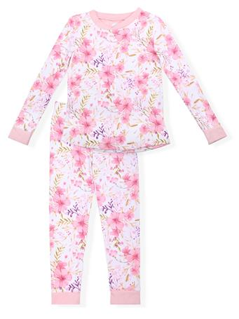 SLEEP ON IT - Fitted Floral Print Pajamas (7-14) PINK