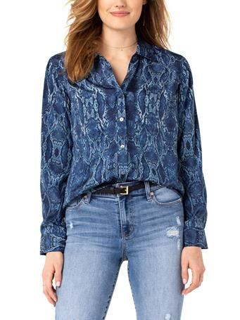 LIVERPOOL JEANS - Button Up Woven Blouse SNAKESKIN-PRINT