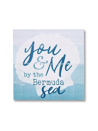 You & Me By The Bermuda Sea Wooden Word Block {#color}