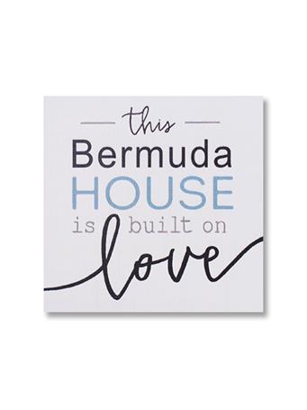 Bermuda Built On Love Wooden Word Block {#color}