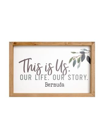 This Is Us Bermuda Framed Wooden Sign No-Color