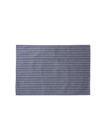 HOME ESSENTIALS - Versatile Table Linen/Tea Towel - Pencil Stripe BLUE
