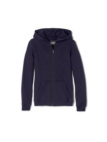FRENCH TOAST - Zip Front Fleece Hoodie NAVY