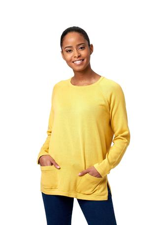 JEANNE PIERRE - Fine Gauge Sweater with Pockets SUNDANCE