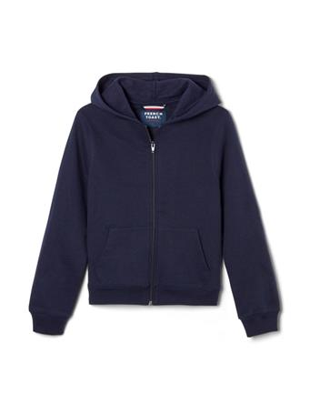 FRENCH TOAST - Zip Front Fleece Hoodie NAVY