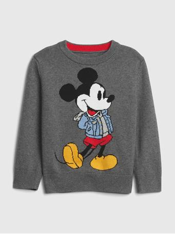 GAP - babyGap | Disney Mickey Mouse Crewneck Sweater HEATHER GREY