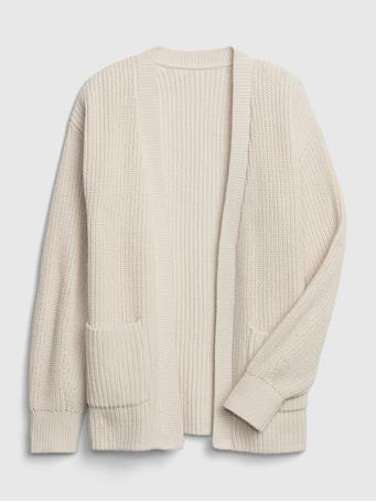 GAP - Kids Open-Front Cardigan SOFT IVORY