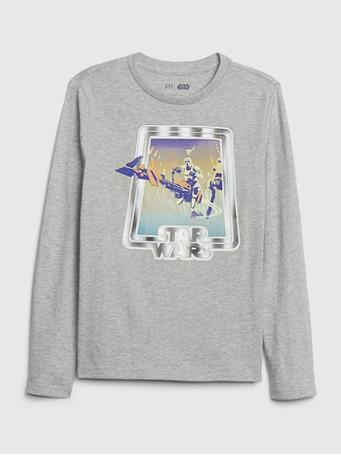 GAP - GapKids | StarWars? Interactive Graphic T-Shirt LT-HTHR-GREY