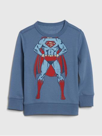 GAP - babyGap | DC? Graphic Crewneck Sweatshirt BAINBRIDGE BLUE