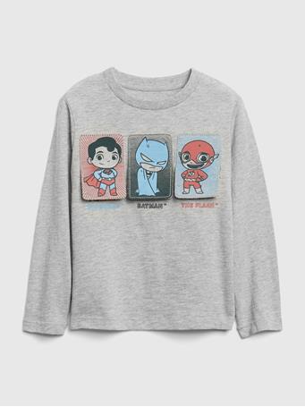 GAP - babyGap | DC? Superhero Flippy Long Sleeve T-Shirt LT-HTHR-GREY