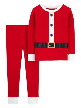 CARTER'S - 2 Piece Snug Fit Cotton Santa Pajama Set  RED