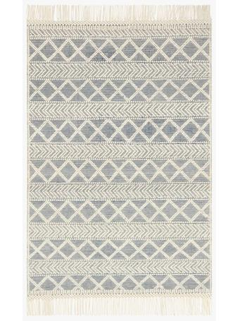 MAGNOLIA HOME - Tassels Diamonds Navy/Ivory Rug - Holloway Collection NAVYIVORY