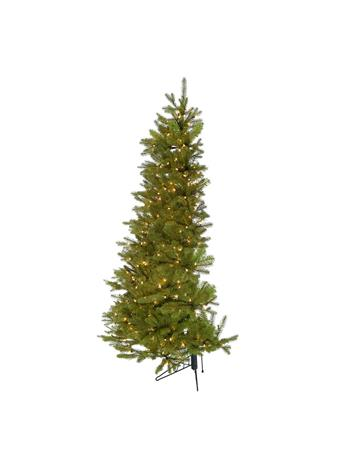 KURT ADLER - 6-Foot Pre-Lit Half Tree With Stand GREEN