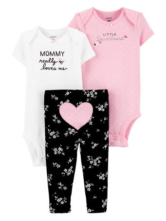 CARTER'S - 3 Piece Heart Little Character Set  NOVELTY