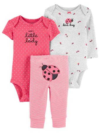 CARTER'S - 3 Piece Ladybug Little Character Set  PINK
