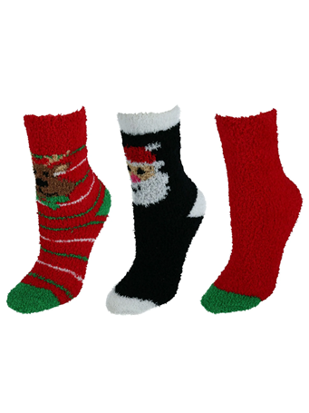 JUST ONE - 3 pair pack of crew socks L85013