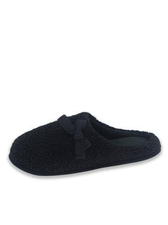 ISOTONER - Berber Hoodback Slipper BLACK