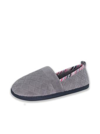 ISOTONER - Mandy Quilted Closed Slipper STORMY-GREY