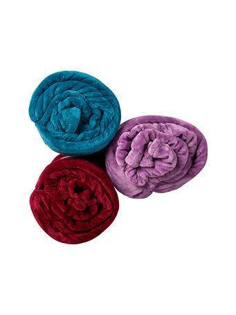 SIGNATURE DESIGN - Super Plush Fleece Solid Blanket LAVENDER