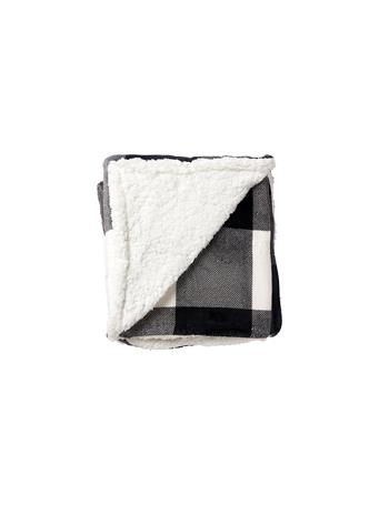 SIGNATURE DESIGN - Buffalo Plaid Throw BLACK