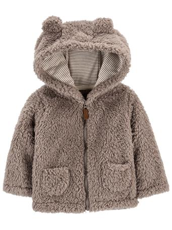 CARTER'S - Grey Hooded Sherpa Jacket GREY