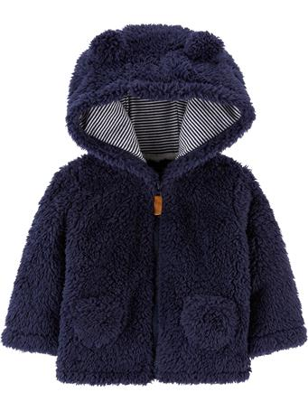 CARTER'S - Navy Hooded Sherpa Jacket NAVY