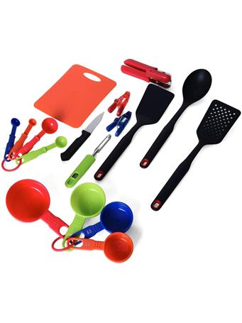 FARBERWARE - Kitchen Tool and Gadget Set, 16-Piece with Cutting Mat MULTI