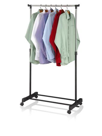 SUNBEAM - Garment Rack with Wheels SILVER