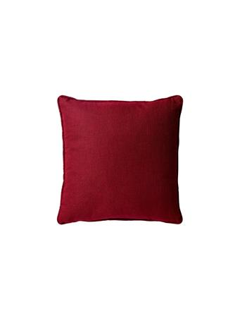 SIGNATURE DESIGN - Solid Linen Texture Decorative Pillow With Piping 31-BURGUNDY