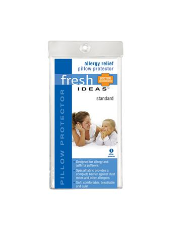 FRESH IDEAS -Anti-Allergy Pillow Protector WHITE