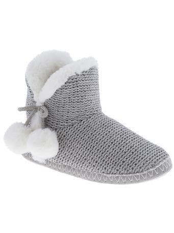 CAPELLI - Knit Boot Slipper GREY
