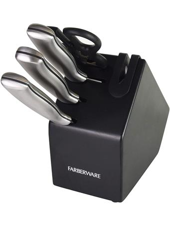 FARBERWARE - Edgekeeper Stainless Steel Cutlery Set, 5-piece, Black NO-COLOUR
