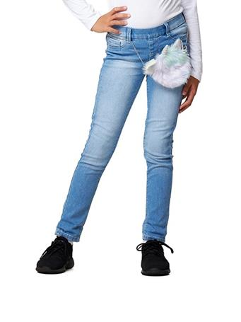 SQUEEZE - Pull on Jeans with Unicorn Bag LIGHT-ELISE